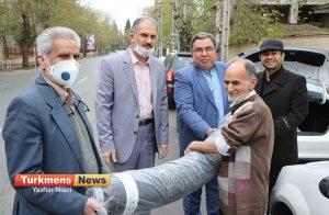 تولید ماسک 1 300x196 - دومین محموله اهدایی پارچه مخصوص تولید ماسک به مردم شهرستان گرگان و آق قلا رسید