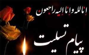 تسلیت 6 1 - پیام تسلیت به محمد حسن پور در پی درگذشت پدر گرامیشان