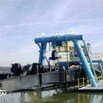 لایروبی گرگانرود با دستگاه کاترساکشن سازمان بنادر و دریانوردی