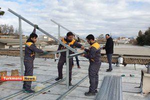 نیروگاه خورشیدی ترکمن نیوز 1 300x201 - اولین و بزرگترین نیروگاه خورشیدی خانگی شمال و شرق گلستان راه اندازی شد+عکس