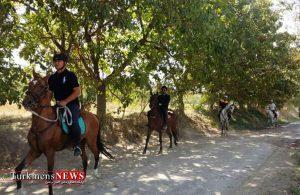 گشت سواره با اسب اصیل ترکمن درهفته تربیت بدنی در بجنورد انجام می شود