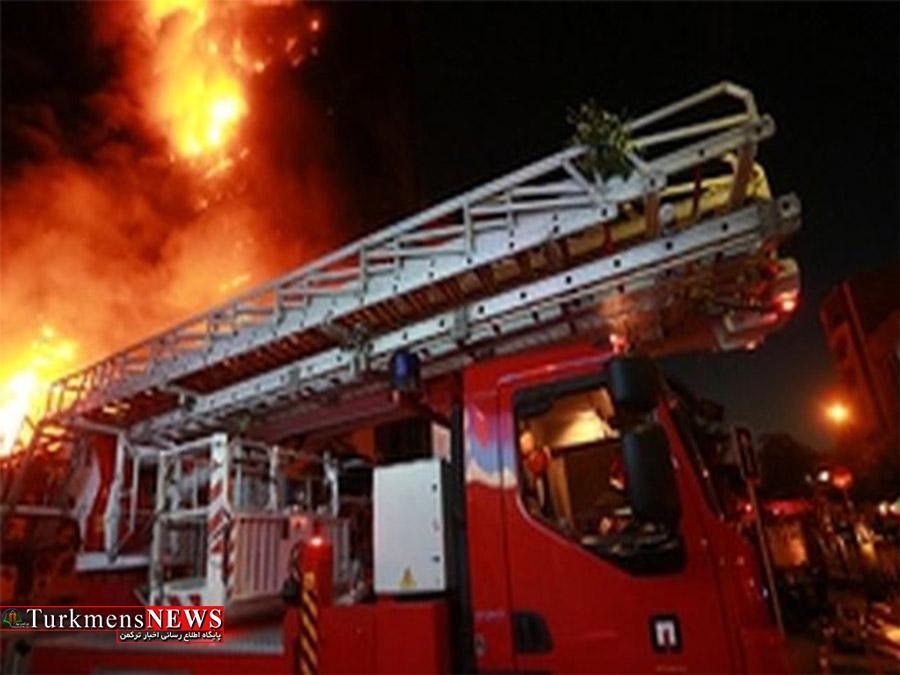 یک واحد مسکونی در روستای زیارت گرگان در آتش سوخت
