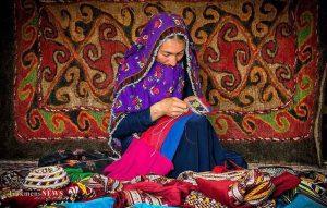 دست جادویی زنان ترکمن خراسانشمالی در هنر سوزندوزی