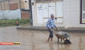 1 282 300x178 - گزارش تصویری آبگرفتگی معابر شهرک کارگران گنبدکاووس