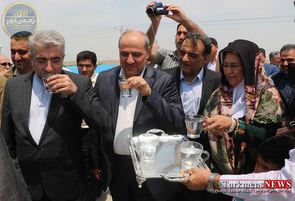گزارش تصویری از راه اندازی پروژه آب شیرین کن شهرستان ترکمن