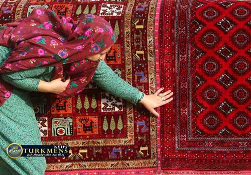 10 15 - احیای فرشهای اصیل ترکمن با نقوش «قفسه گل»، «طغرل کل» و «آینه گل»
