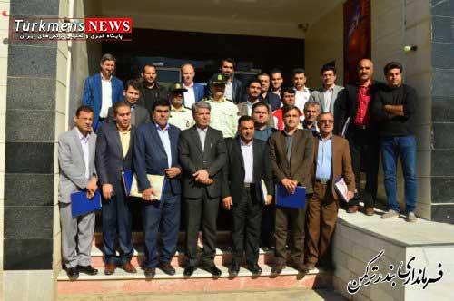 فرماندار ترکمن,مراسم تجلیل از عوامل اجرایی و دست اندرکاران برگزاری تور جهانی تک ستاره والیبال ساحلی