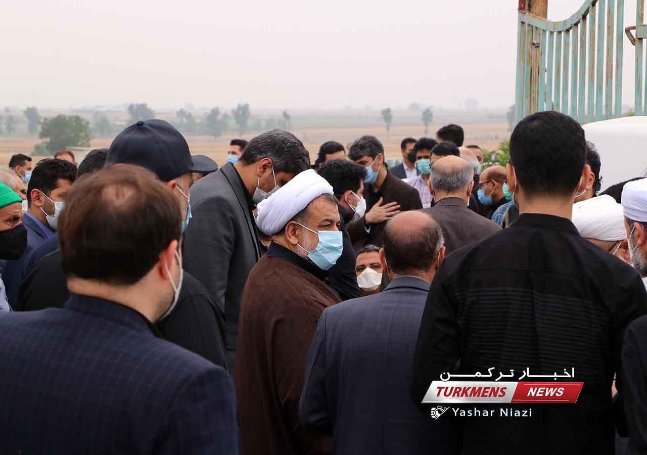 مراسم تشییع و خاکسپاری خواهر حجت الاسلام ترابی امام جمعه گنبدکاووس