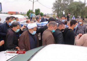 3 140 300x211 - مراسم تشییع جنازه خواهر امام جمعه گنبدکاووس برگزار شد+عکس