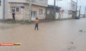 4 110 300x178 - گزارش تصویری آبگرفتگی معابر شهرک کارگران گنبدکاووس