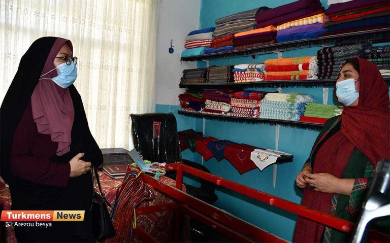 5 79 768x479 - بازدید مدیرکل دفتر امور زنان و خانواده استانداری گلستان از کارگاه تخصصی ابریشم در شهرستان رامیان