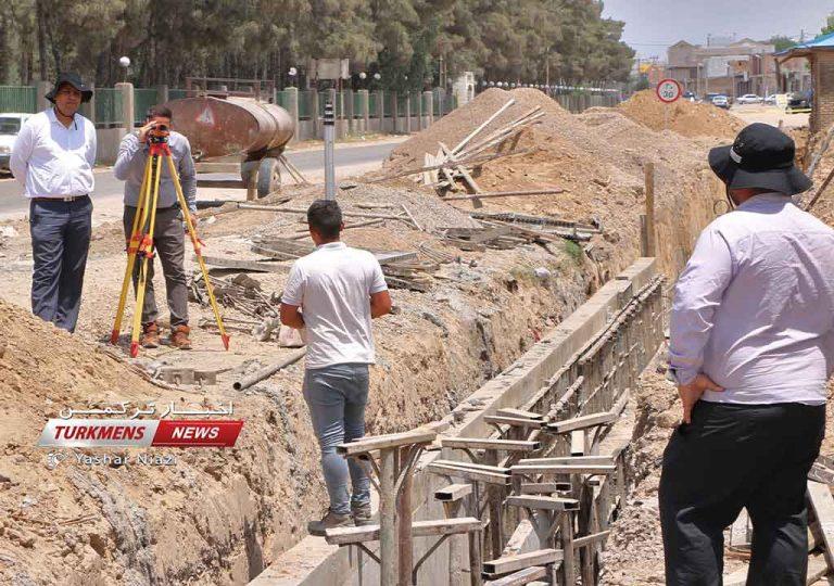احداث کانال حمع آوری آبهای سطحی روستای آق قایا