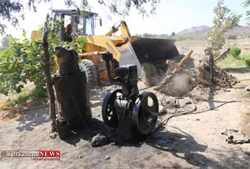 96 چاه غیرمجاز در استان گلستان پلمپ شد