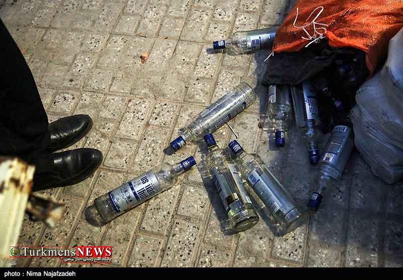 Alkohol 30F - کشف و انهدام ۱۲۴۲لیتر مشروبات الکلی دستساز در گنبدکاووس