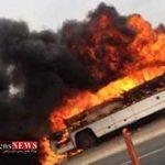 Atash 6T 150x150 - اتوبوس واحد شهرداری گرگان در آتش سوخت
