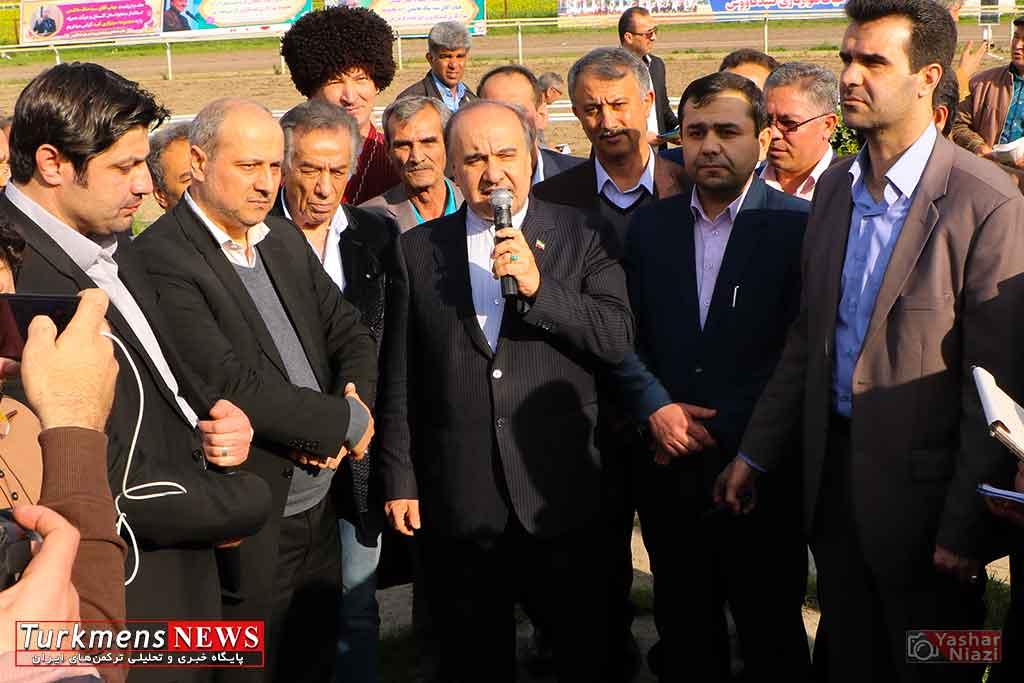 """مسعود سلطانی فر """"وزیر ورزش و جوانان کشور"""" اسبدوانی گنبد کاووس"""