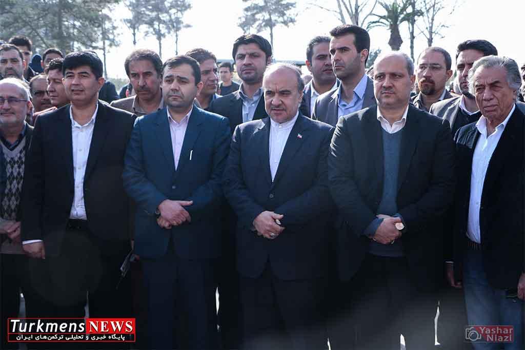Bazdid TurkmensNews 2 - حمایت مالی شهرداری های گرگان و گنبد از بسکتبال و والیبال
