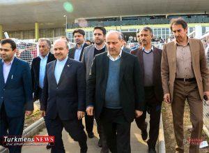 سید مناف هاشمی بازدید از اسبدوانی گنبد کاووس
