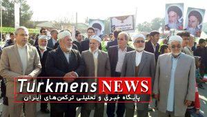 Gomishan 1 22B 300x169 - حضور حماسی ترکمن های مرزنشین گُمیشان در راهپیمایی 22 بهمن