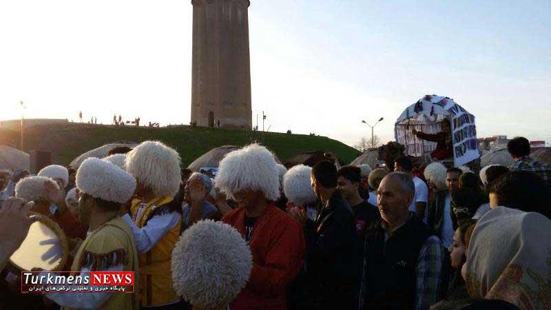 Gonbad Kavoos 29E - آغاز جشن ملی نوروزگاه در جوار بلندترین برج آجری جهان در گنبدکاووس