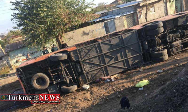 Havades 12A - ۳۳ مصدوم بر اثر واژگونی اتوبوس در گالیکش