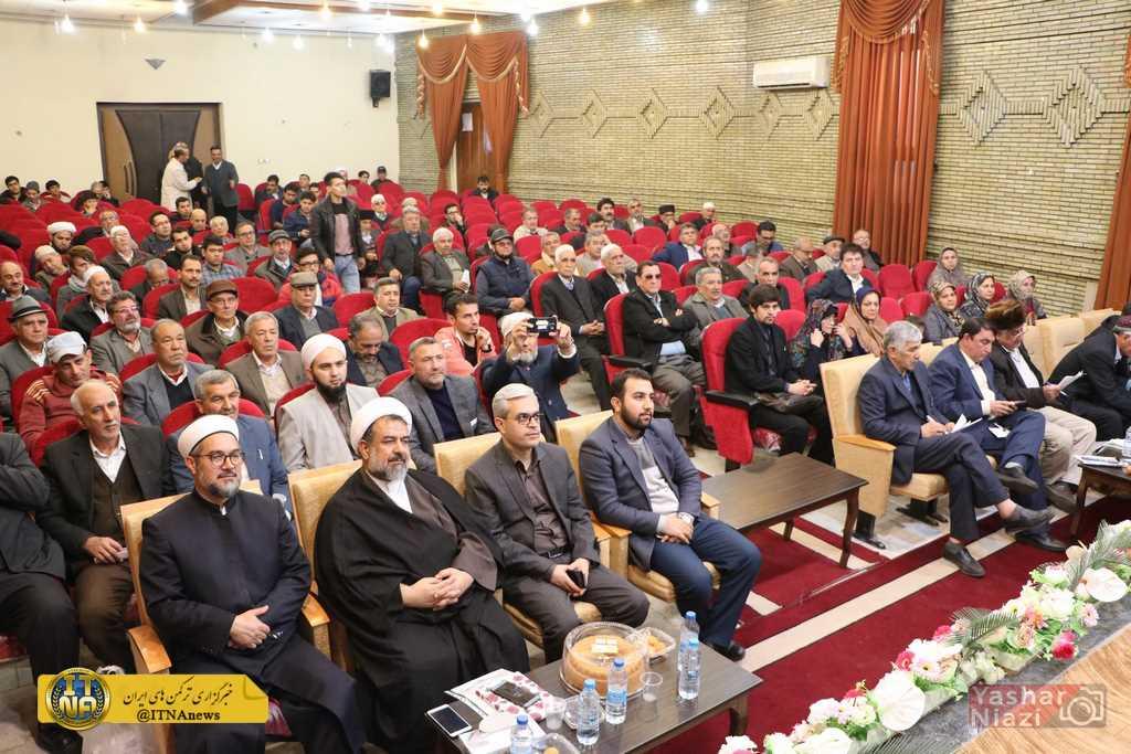 IMG 3646 - مراسم گرامیداشت پدر نشر ترکمن در سالن هلال احمر گنبد کاووس/گزارش تصویری