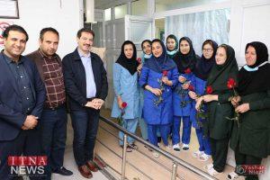 IMG 4803 300x200 - بازدید و تبریک اعضای نظام پرستاری از بیمارستان های شرق گلستان+عکس