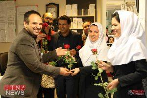 IMG 4818 300x200 - بازدید و تبریک اعضای نظام پرستاری از بیمارستان های شرق گلستان+عکس