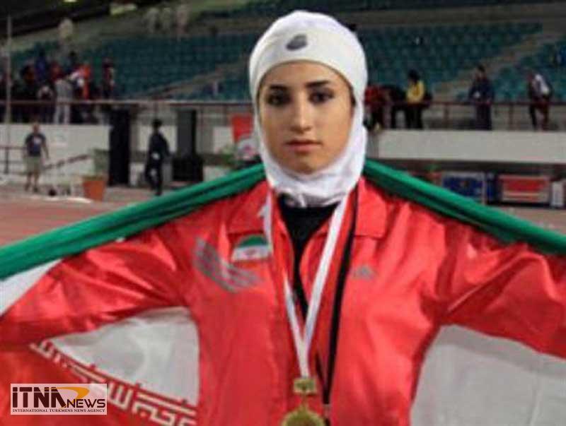 Javaherzamani itnanews - کسب دومدال طلا توسط جواهر زمانی در رشته دومیدانی بانوان کشور