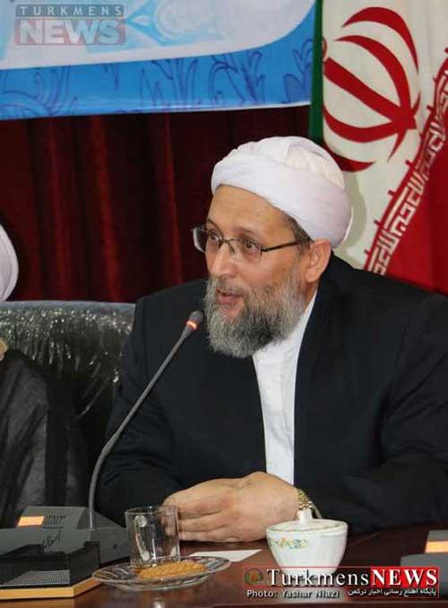 آخوند عبدالباسط نوریزاد در جمع مدیران و مسوولان شهرستان گنبدکاووس
