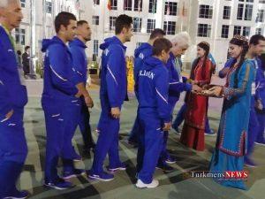 Olampic Turkmen 3 300x225 - پرچم ایران در دهکده بازیهای داخل سالن به اهتزاز درآمد+ تصاویر