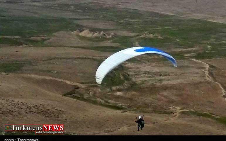 Paraglayder 15Kh - سقوط پاراگلایدر در ارتفاعات رامیان/ پیدا شدن خلبان مفقود شده