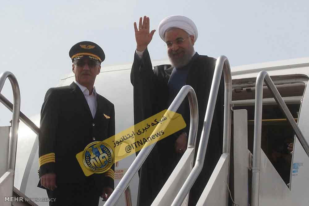 سفردکتر روحانی+ رییس جمهور به باکو