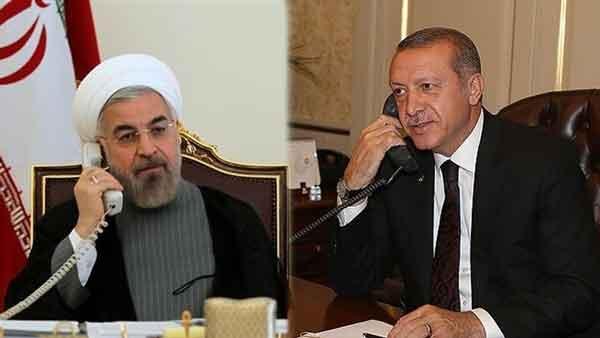 Ruhani Erdogan - Ruhani bilen Ardogan telefon arkaly söhbetdeşlik gecirdiler