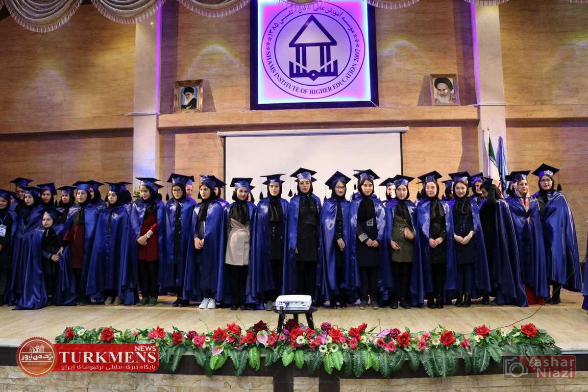 ShamsGonbad TurkmensNews 9 - جشن فارغ التحصیلی دانش آموختگان موسسه آموزش عالی شمس گنبد کاووس برگزار شد