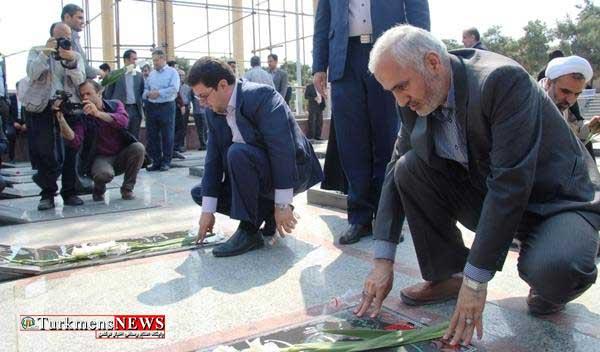 Shohada 31Kh - آغاز هفته قوه قضاییه با حضور کارکنان دستگاه قضایی استان در گلزار شهدا