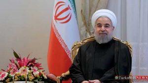 Prezident Ruhani Türkiýäniň garaşsyzlyk gününiň ýyllygyny gutlady