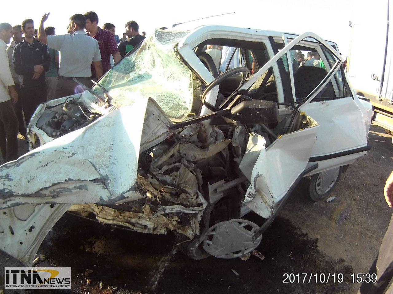Tasadof itnanews 2 - ۴ کشته در تصادف مرگبار جاده آجیقوشان-گنبدکاووس