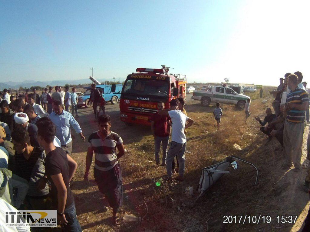 Tasadof itnanews 5 1024x768 - ۴ کشته در تصادف مرگبار جاده آجیقوشان-گنبدکاووس