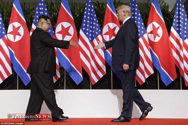 Trump Oun 1 22Kh - دونالد ترامپ و کیم جونگ اون سند جامع امضا کردند