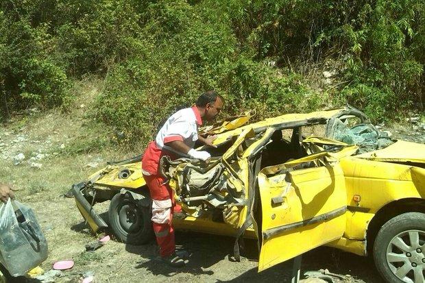 Vajgoni 17 Sh - واژگونی خودرو در گلستان یک کشته و ۵ مصدوم برجای گذاشت