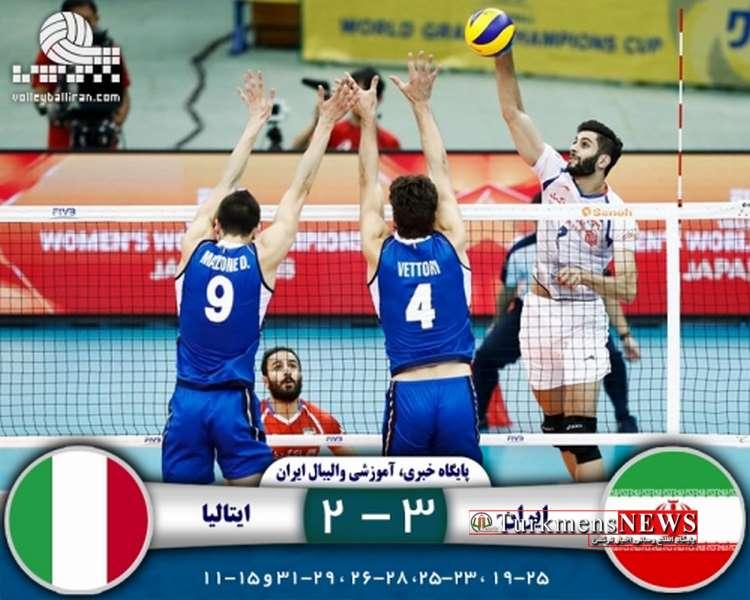 VolleyBoll 22 Sh - تیم ملی والیبال ایران در نخستین مسابقه خود در جام قهرمانان والیبال جهان ایتالیا را شکست داد
