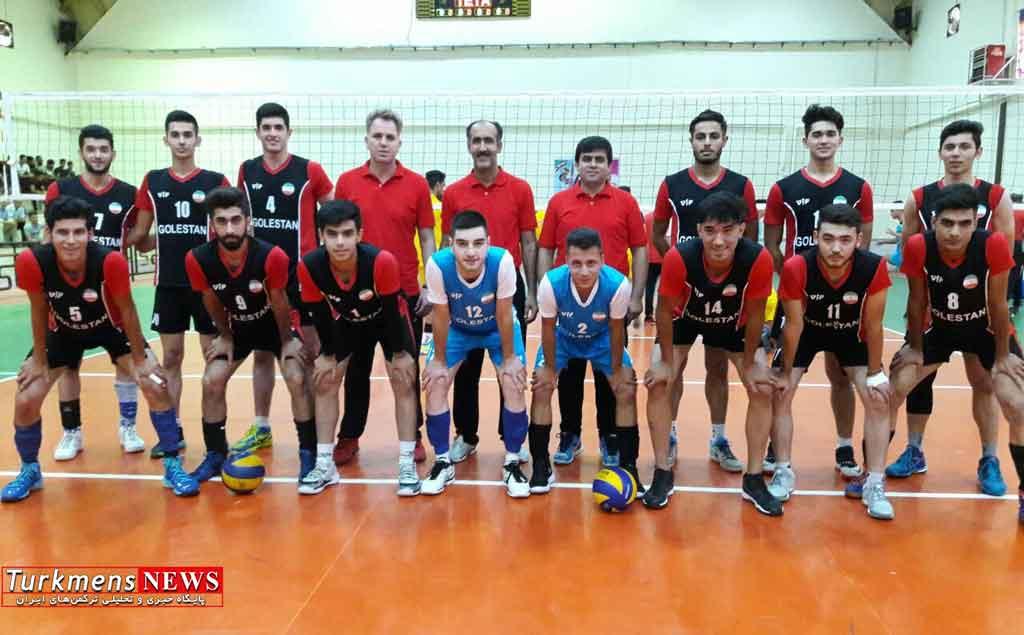 Volleyball - صعود تیم گلستان به نیمه نهایی والیبال قهرمانی جوانان کشور