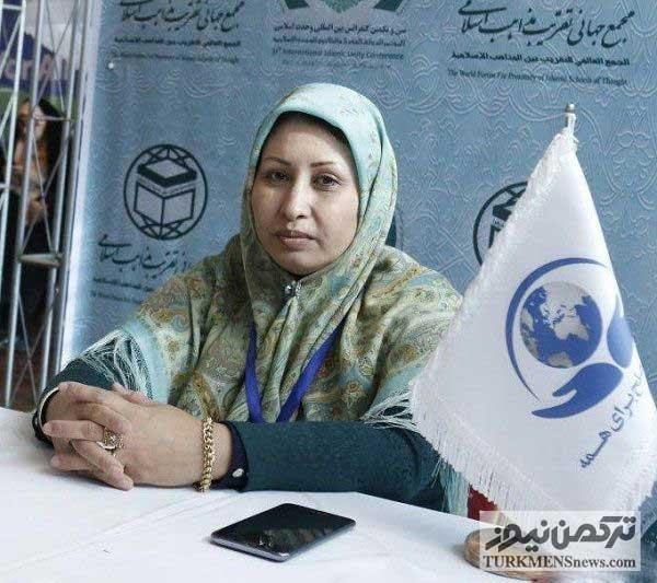 Zoleikha Kor 22Az - تفاهمنامه همکاری بانوی ترکمن با مرکز گفتمان صلح برای همه