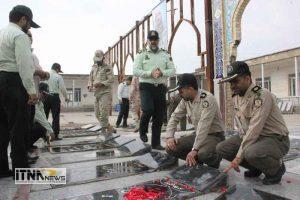 atrafshani13 21m 300x200 - آیین عطرافشانی گلزار شهدای 8 سال دفاع مقدس برگزار شد+تصاویر