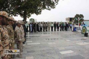 atrafshani2 21m 300x200 - آیین عطرافشانی گلزار شهدای 8 سال دفاع مقدس برگزار شد+تصاویر