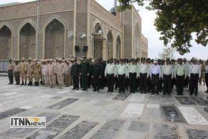 atrafshani4 21m 300x200 - آیین عطرافشانی گلزار شهدای 8 سال دفاع مقدس برگزار شد+تصاویر
