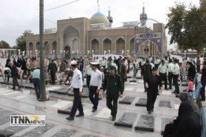 atrafshani7 21m 300x200 - آیین عطرافشانی گلزار شهدای 8 سال دفاع مقدس برگزار شد+تصاویر