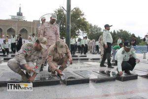 atrafshani8 21m 300x200 - آیین عطرافشانی گلزار شهدای 8 سال دفاع مقدس برگزار شد+تصاویر