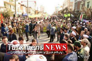 bandar rahpeimaii3 300x199 - راهپیمایی باشکوه 22 بهمن در شهرستان ترکمن برگزار شد
